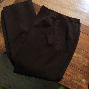 INC brown striped trousers